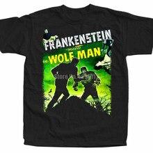 Frankenstein rencontre le loup affiche homme chemises Vaporwave homme tee shirt pompier T-Shirts Fishinger T-Shirts rigolos Jnacln