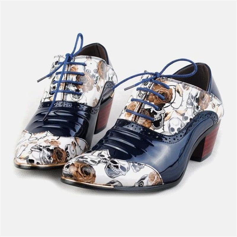 أحذية نسائية جديدة مواكبة للموضة ذات ألوان متماثلة من قماش البولي يوريثان بطباعة كلاسيكية أحذية بروغ مريحة مجوفة من الدانتيل طراز KS229