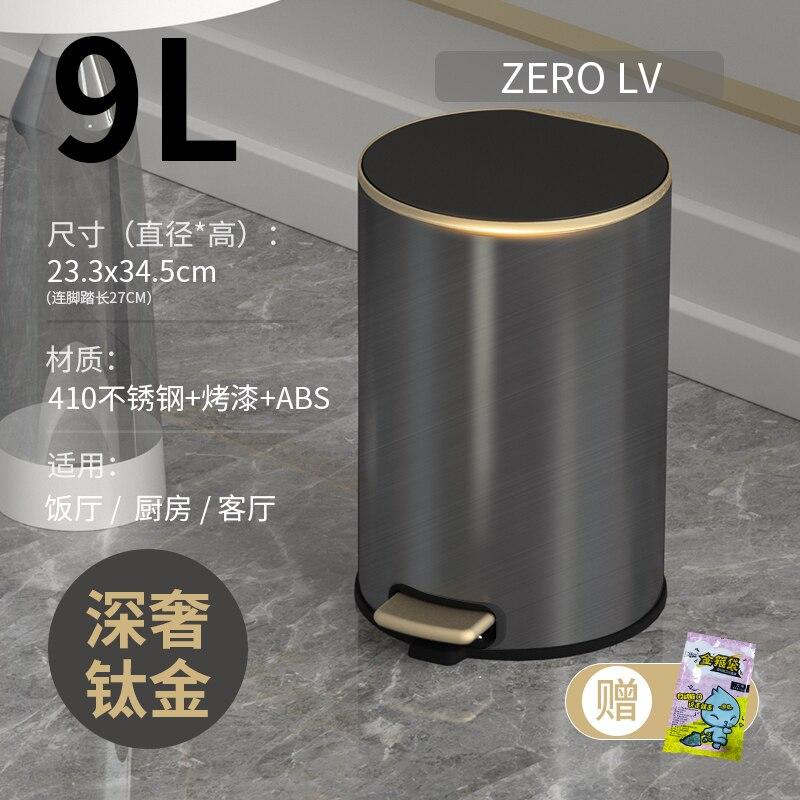 Modern Trash Bin For Recycling Bins Europe Luxury Stainless Steel Trash Bin Storage Poubelle Household Cleaning Tools BD50WB enlarge