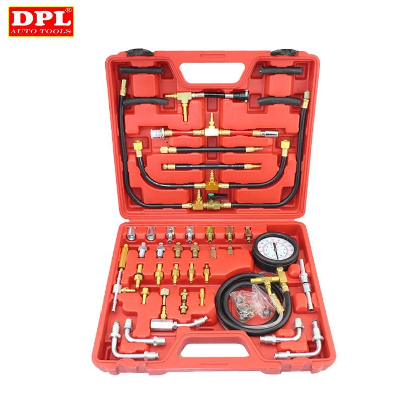 automotive tools of 22pcs fuel Universal Automotive TU-443 Deluxe Manometer Fuel Pressure Gauge Engine Testing Kit Fuel Injection Pump Tester