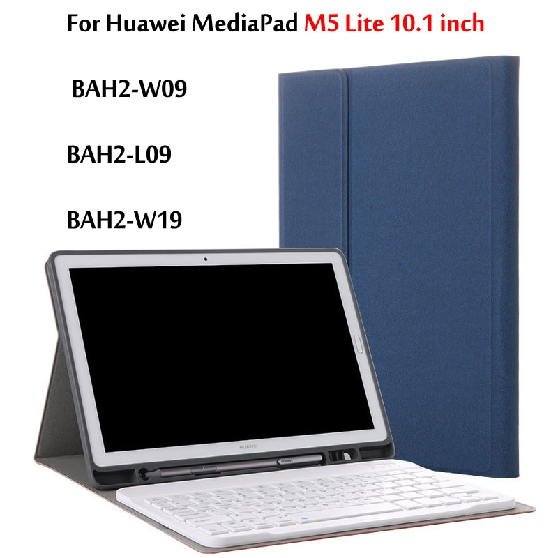 Ultra dünne Abnehmbare Drahtlose Bluetooth Tastatur Fall abdeckung Für Huawei MediaPad M5 Lite 10 10,1 Fall BAH2-W09 BAH2-L09 BAH2-W19