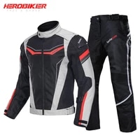motorcycle jacket men motorbike moto jacket pants suit autumn winter waterproof cold proof clothing ce protective gear