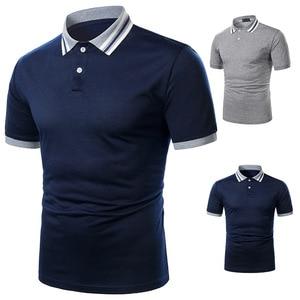 New Man Polo Shirt Mens Casual Deer Embroidery Cotton Polo Shirt Men Short Sleeve High Quantity Polo Men  Oversized Shirt