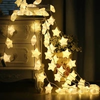 led fairy lava star string lights macaron 1 536m usb battery garland christmas wedding holiday baby children bedroom decor