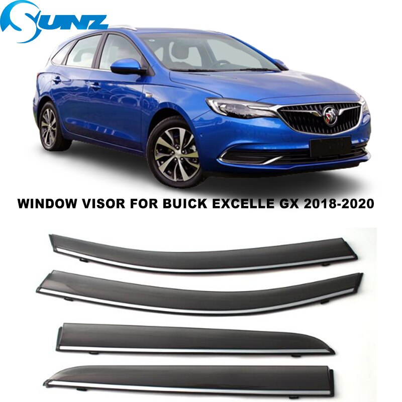 Side Window Visor For Buick Excelle GX Hatchback 2018 2018 2020 Smoke Weathershields Sun Rain Deflector Car Stylings SUNZ