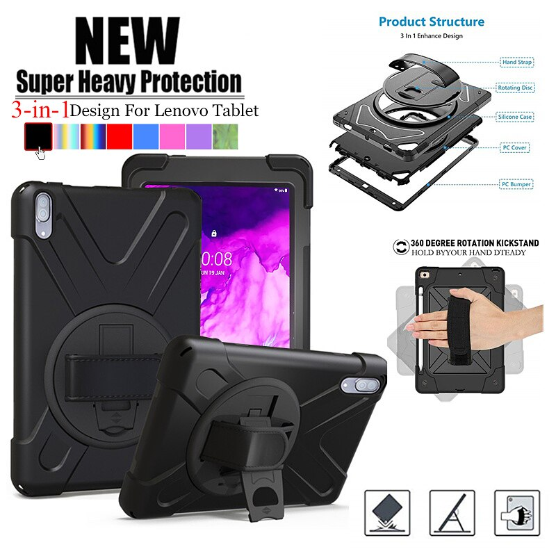 Case Fro Lenovo Tab P11 TB-J606F/P11 Pro TB-J706F 360 Rotate Anti-Fall Hand Shoulder Strap Rugged Duty Shockproof tablet Cover