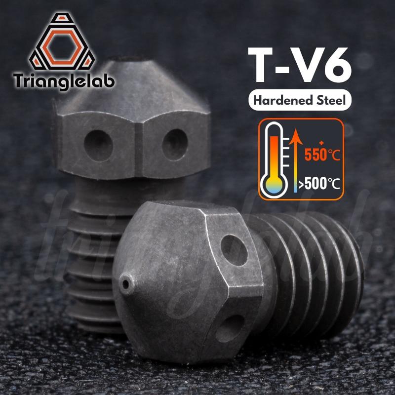 Trianglelab Hardened Steel T V6 Nozzles High Temperature 3d Printer Pei Peek Carbon Fiber Filament For E3d V6 Hotend Prusa Mk3s 3d Printer Parts Accessories Aliexpress