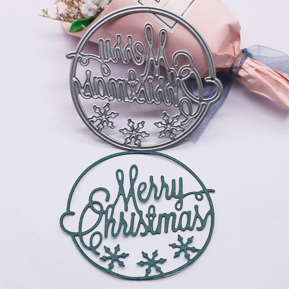 Troqueles de corte de Metal de Feliz Navidad, álbum de recortes, Navidad,...