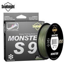 SeaKnight Monster S9 300M 500M PE ligne de pêche 9 brins inverse spirale Tech Multifilament forte carpe ligne de pêche 20-100LB
