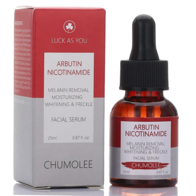 CHUMOLEE Alpha ibutina suero blanqueador líquido 25ml eliminación de pecas manchas oscuras cicatrices de acné Nicotinamide antiarrugas suero facial