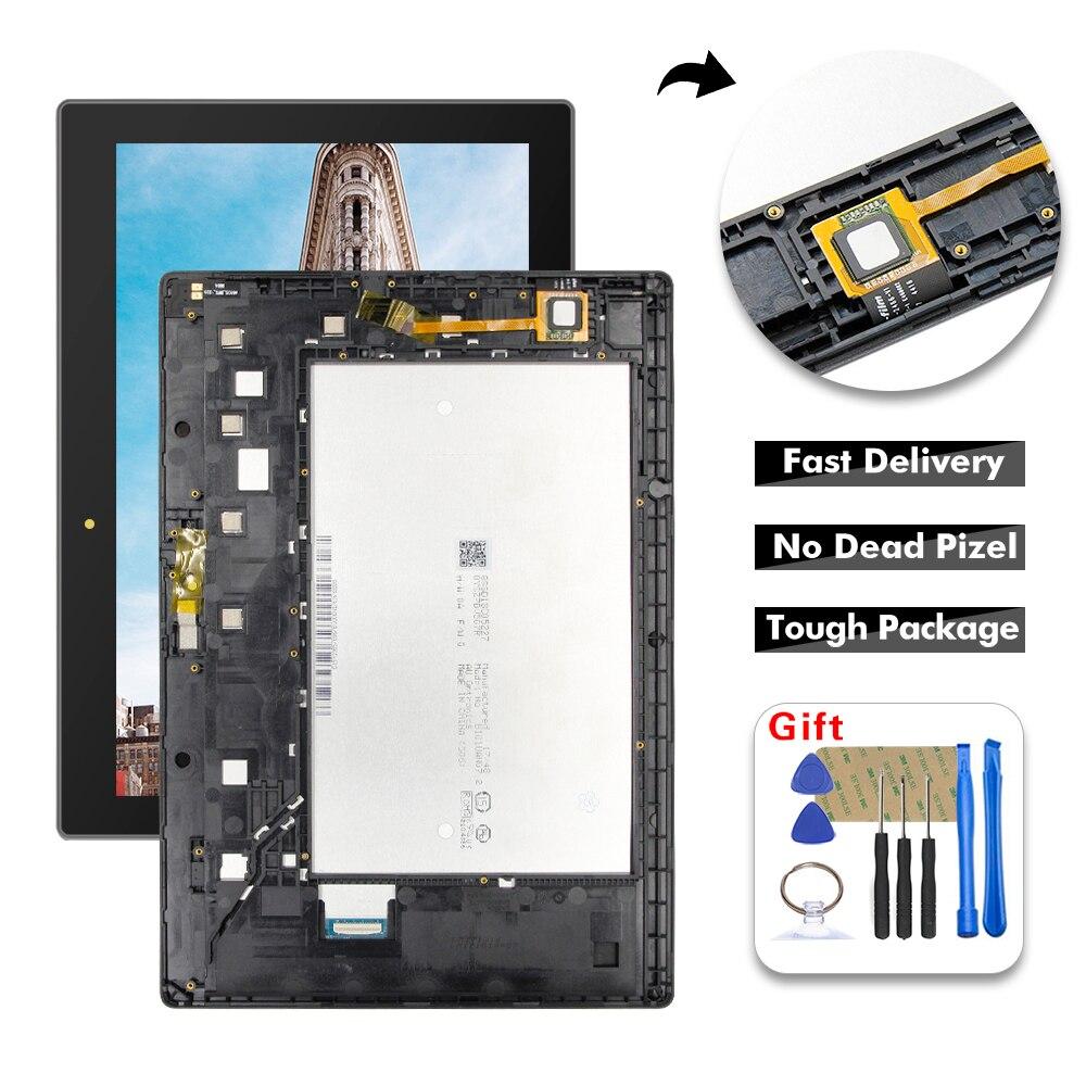 Para lenovo tab 3 10 plus za0y za0x TB3-X70L TB3-X70F TB3-X70N TB3-X70 display lcd de toque digitador da tela vidro assembléia + quadro