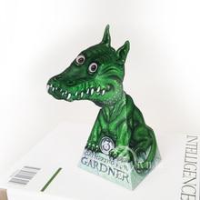 Optical Illusions Green Dragon Ornaments Folding Cute Mini 3D Paper Model Papercraft DIY Kids Adult Handmade Craft Toys ER-076