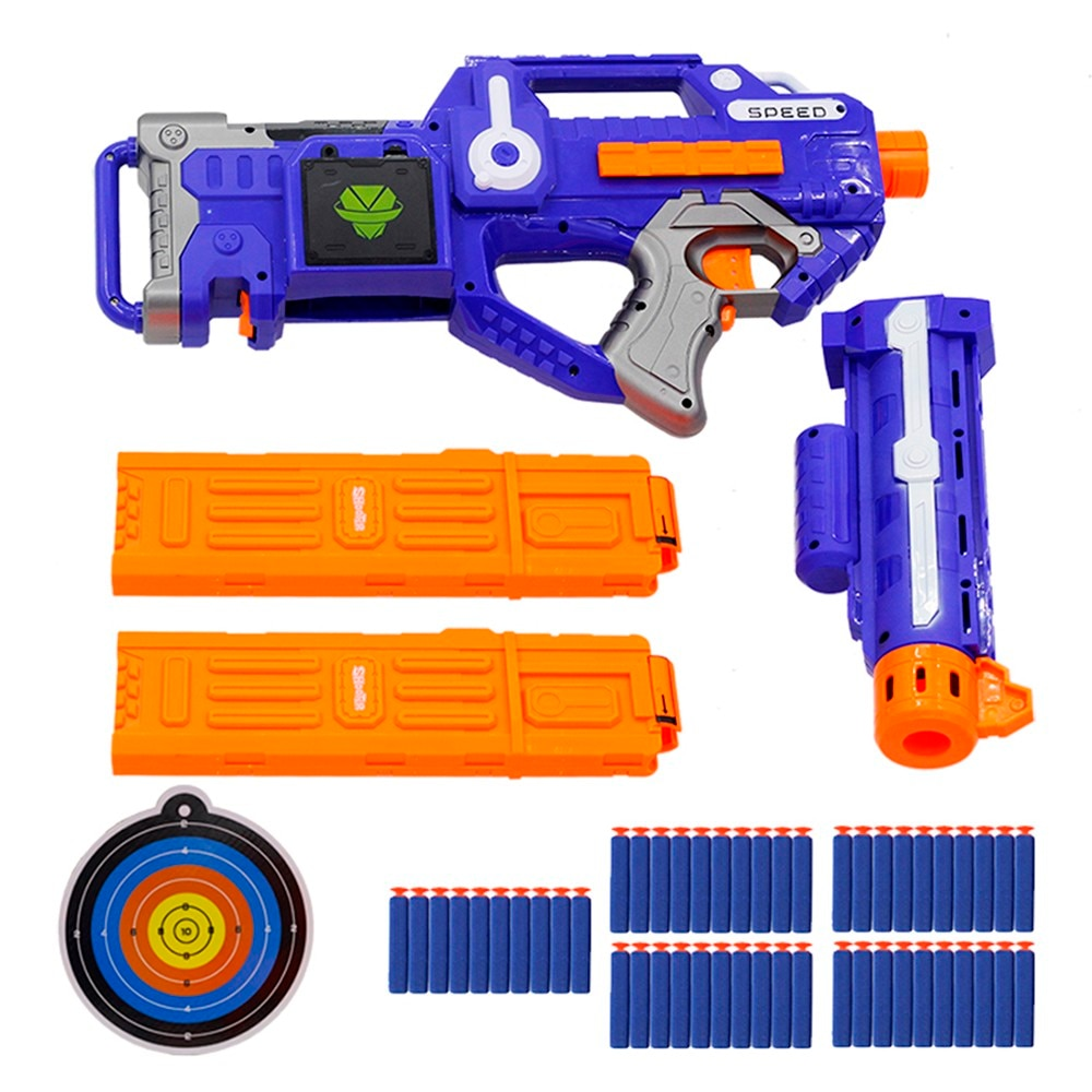 New Arrival Electric Soft Bullet Gun Sniper Rifle Suit for Nerf bullets Toy Gun EVA Dart Blaster Toy Rifle Gun Kids Best Gift