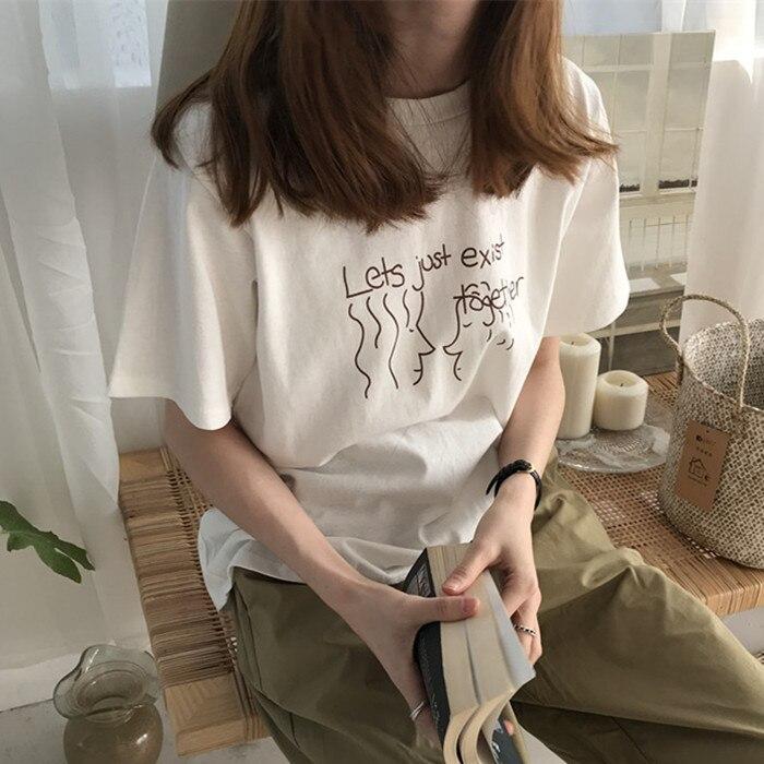 Pas cher en gros 2018 nouvel été vente chaude femmes mode décontracté t-shirt dame belle belle belle hauts Y23