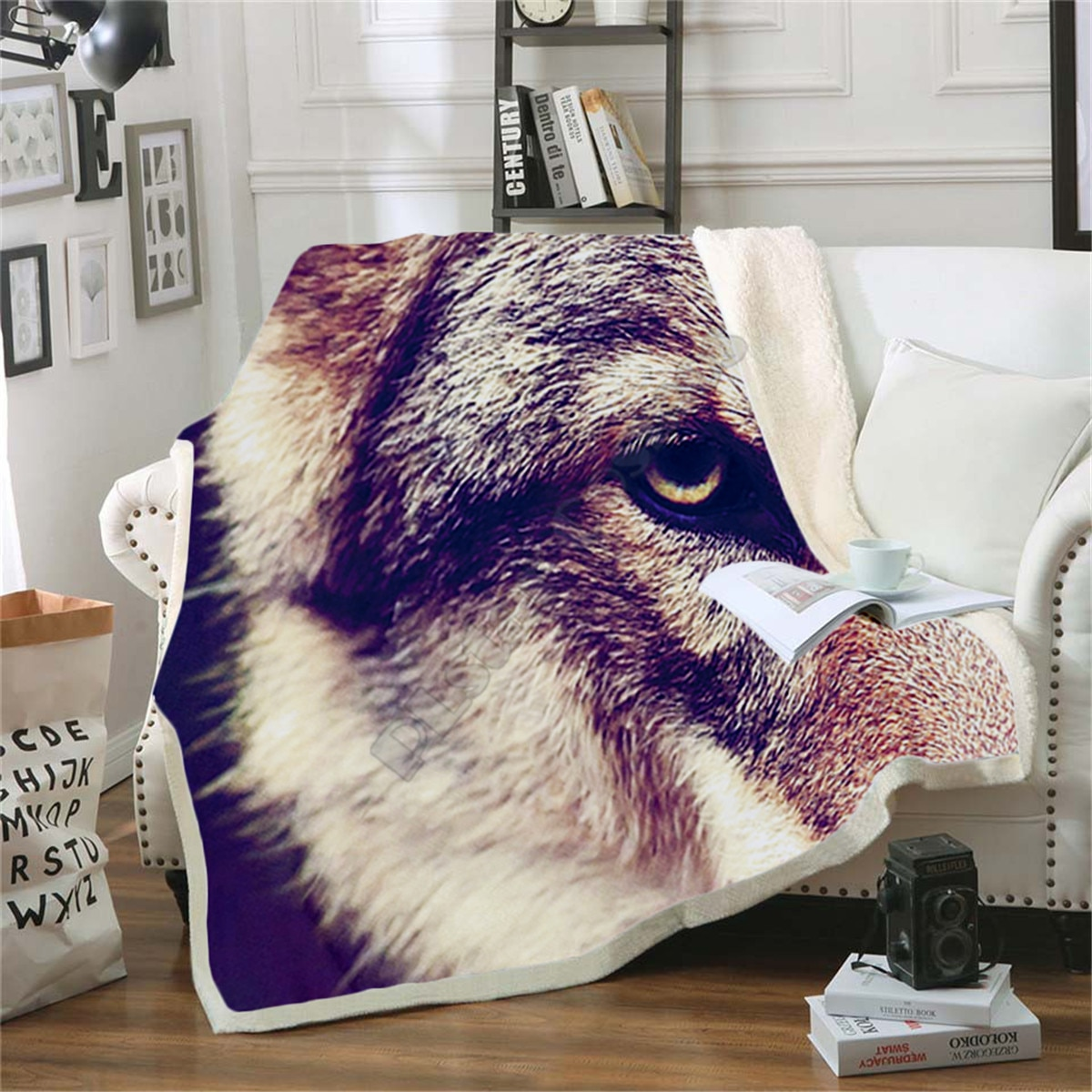 Wolf Fleece Blanket 3D printed Sherpa Blanket on Bed Home Textiles Dreamlike HOME ACCESSORIES 02