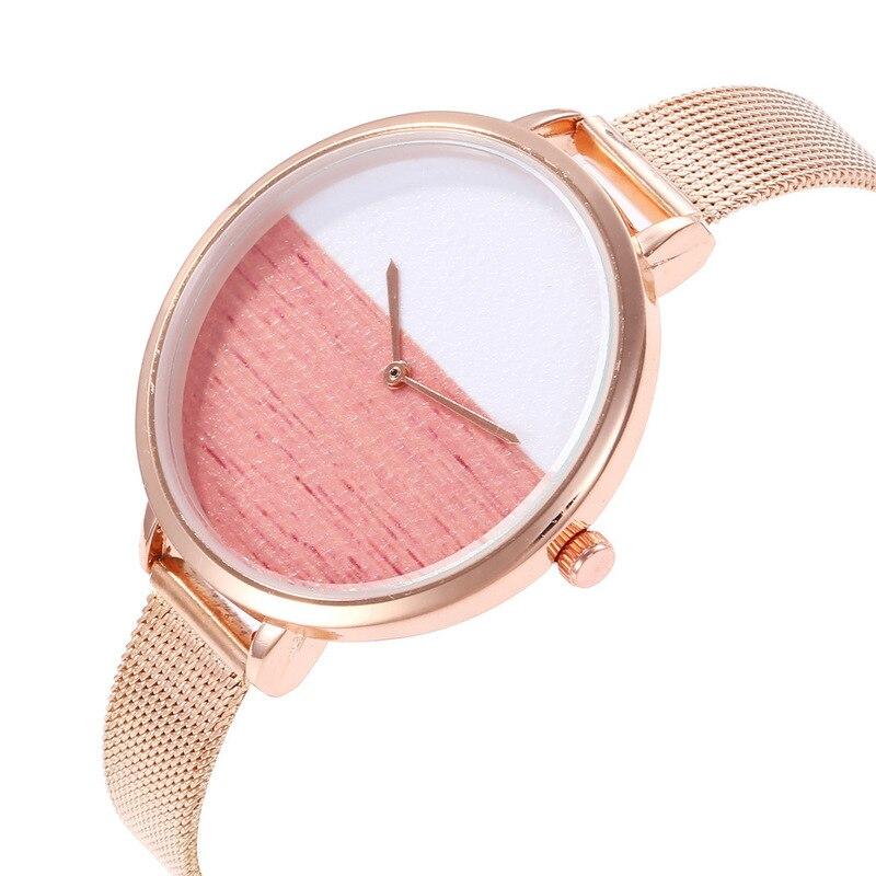2020 Limited Shrimp Skin Soup Ms Duo La Hot Style Mesh Belt Han Edition L Fashion Watches Two Quartz Watch Kid