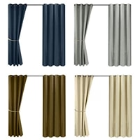 summer thermal insulated tulle lawn curtain waterproof breathable voile sheer divider outdoor curtains gardeen patio lovable