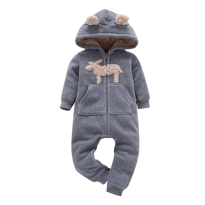 Mameluco del bebé ropa de invierno ropa de bebé nuevo niño nacido Niña de manga larga con capucha mono recién nacido traje niño mono cremallera unisex overoles