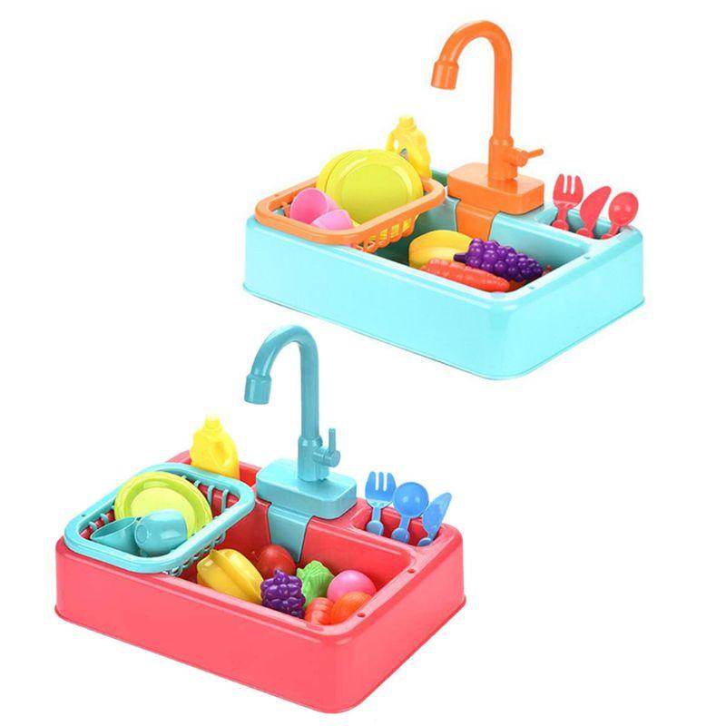 Caja de Baño de aves divertida automática colorida juguetes interactivos de entretenimiento para niños K4UA