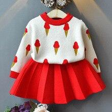 Melario bébé filles robes enfants vêtements en tricot vêtements printemps automne enfants pull fille robe de crème glacée Costume enfants Costume