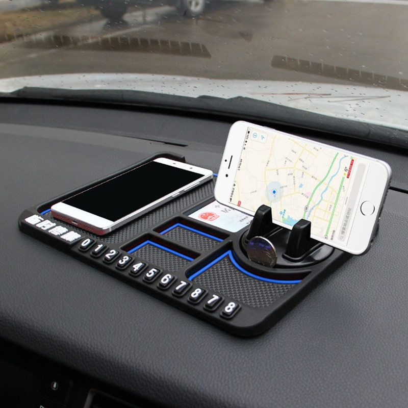 Mobile Phone Anti-skid Pad Auto Phone Holder Dashboard Car Mat Pad Non Slip Sticky Anti Slide Dash Phone Mount Silicone
