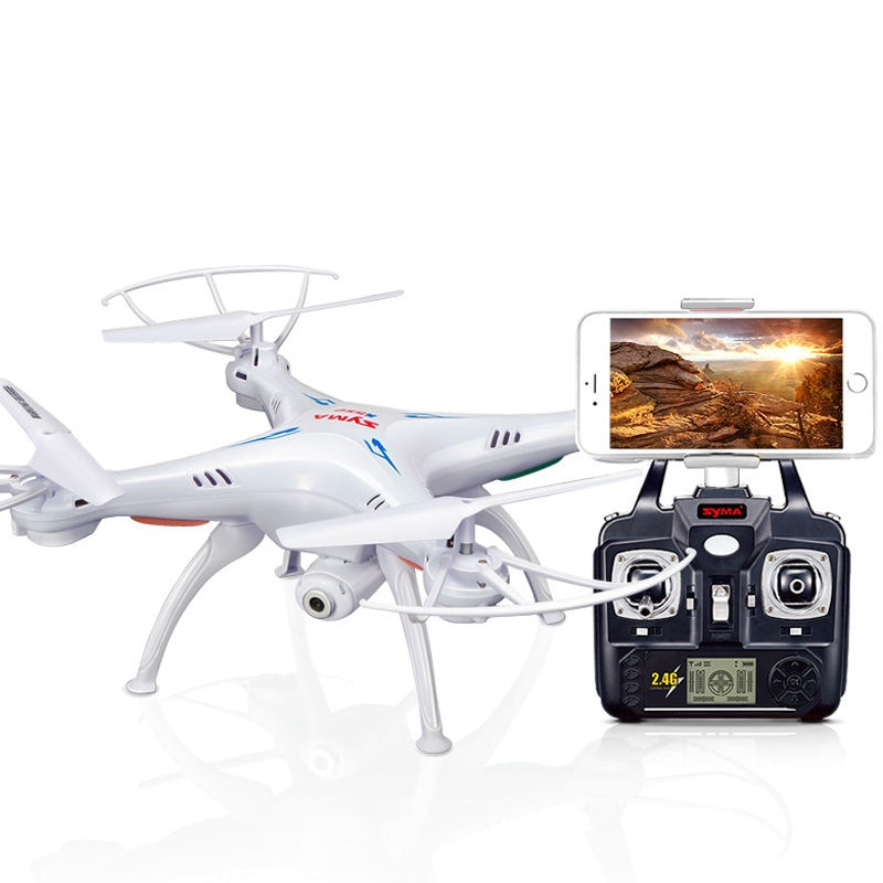 Syma X5SW 2.4Ghz 4CH 6 محور الدوران RC Quadcopter مع HD Wifi Selfie كاميرا صغيرة بدون طيار UFO الكلاسيكية هليكوبتر هدية للمبتدئين صبي