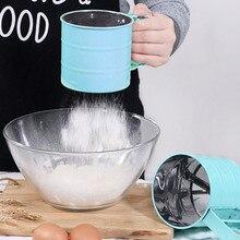Spot tamiz de harina de mano rejilla para hornear taza tamizadora mezclador de harinas prensado a mano para azúcar glaseado de herramientas para hornear vj-drop