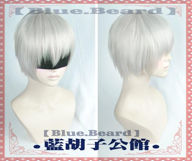 NieR Automata yorkha n. ° 2 tipo B pelucas Cosplay fibra de alta temperatura pelo sintético astilla Pelo Corto blanco + red de peluca gratis