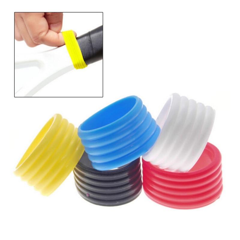 Nuevo 5 uds mango de la raqueta de tenis anillo de goma elástico raqueta de tenis Grip Ring Overgrip protectores tenis raqueta Fix Ring