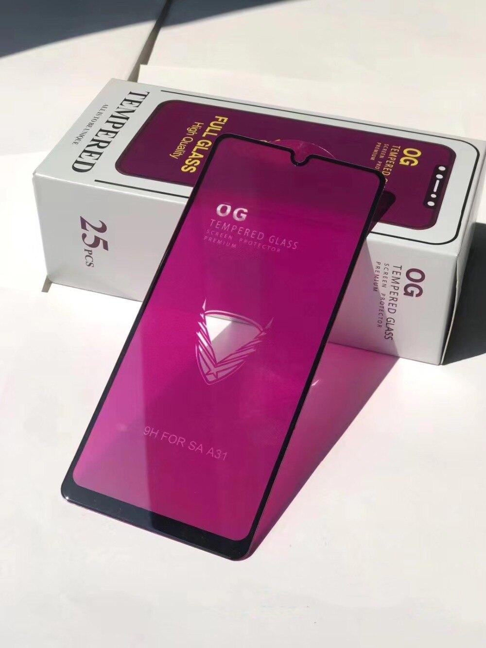 OG película protectora de pantalla de cristal templado para Samsung MOTO A3 A5 A7, película protectora de cristal cubierto para teléfono inteligente SAMSUNG