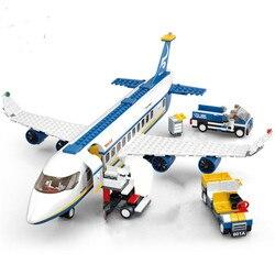 463 pçs cidade aeroporto airbus avião avião avião técnica blocos de construção legoingls tijolos brinquedos educativos para crianças