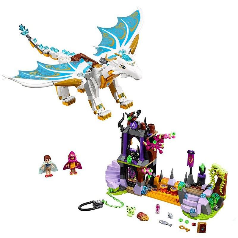 10550 elfos mucho después del rescate Cction dragón bloques de construcción de ladrillos juguete educativo para niños Compatible con regalos de 41179