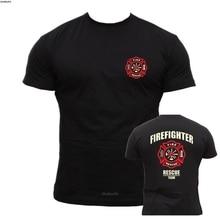Rescue Point Firefighter Fireman s short sleeve T-Shirt KF8B cotton men t-shirts bigger size 4XL 5XL sbz8149