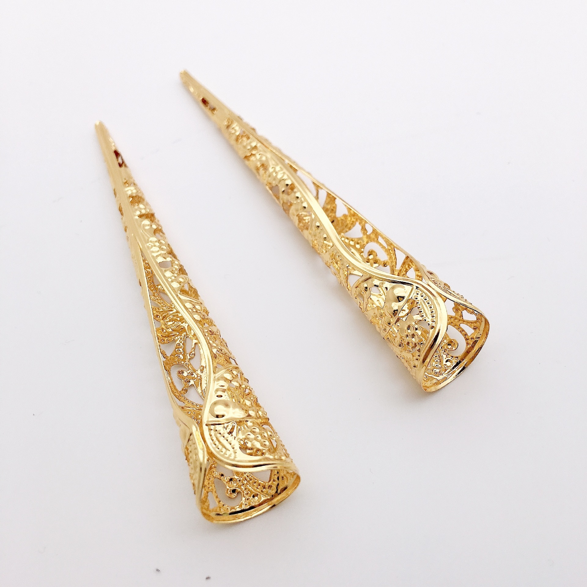 5Pcs/set Fashion Chinese Ancient Long Nail Ring Fingernails Joint Knuckle Finger Ring Cosplay Fancy Dress Jewelry