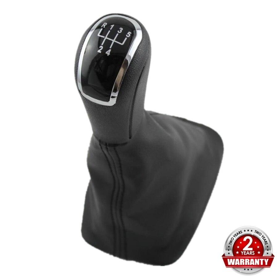 Para Skoda Fabia 1 MKI 2000, 2001, 2002, 2003, 2004, 2005, 2006, 2007, 2008-estilo 5 velocidad perilla de caja de cambios de bota de cuero