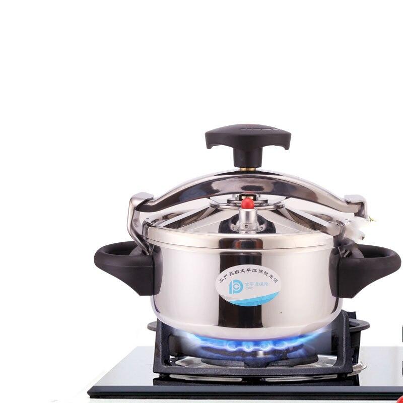 Olla a presión de acero inoxidable, olla a presión pequeña, Cocina de Inducción de Gas para el hogar, anillos de olla a presión, Autoclave