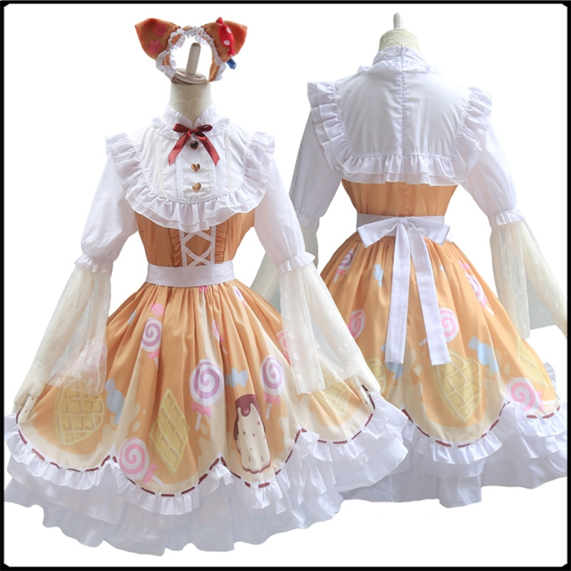 Identidade v cosplay traje mecânico doce menina traje cosplay querida lolita vestido festa vestido diário traje conjunto completo Fantasia de jogos    -