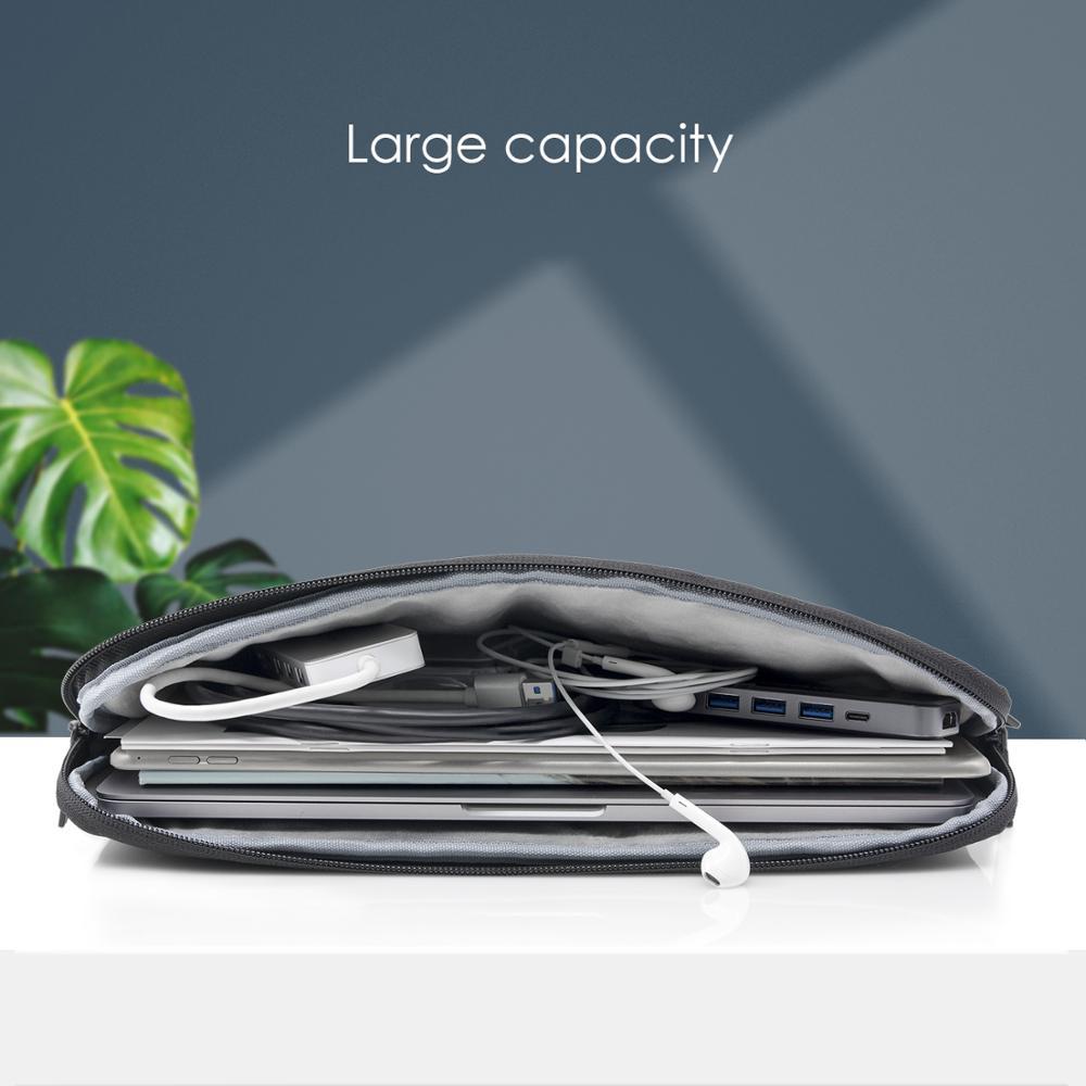 Купить с кэшбэком Laptop Bag 13.3 15.6 14 16 inch Waterproof Notebook Bag Sleeve For Macbook Air Pro 13 15 Computer Shoulder Handbag Briefcase Bag