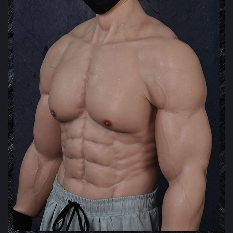 Realistic Fake Silicone Muscle Suit Strengthen Cosplay Realistic Fake Muscle Suit with Arm