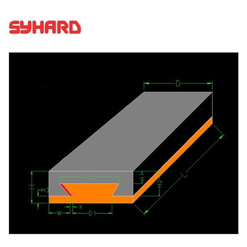 Dovetail-كتلة منزلقة من الحديد الزهر ، لوحة أخدود مستقيمة ، جزء ماكينة CNC ، 300 × 65 × 38 مللي متر