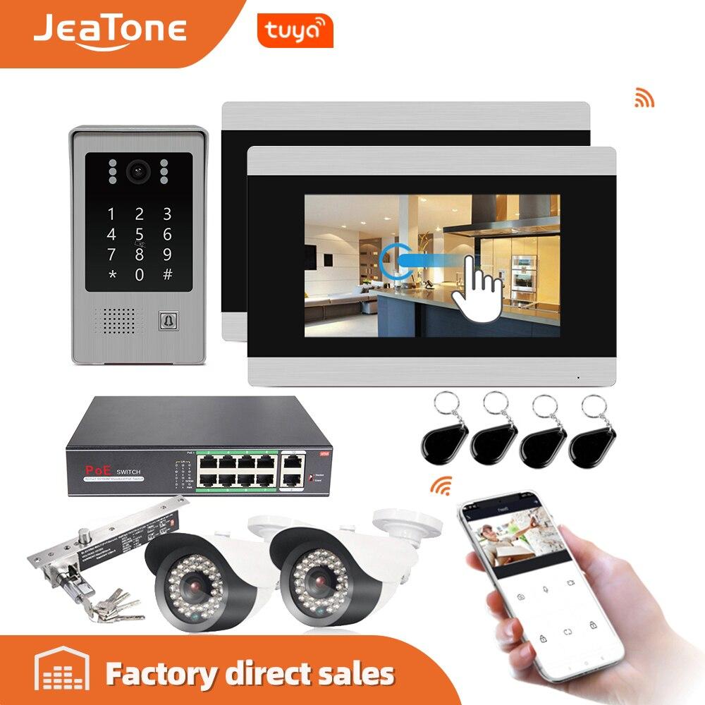 7 WIFI IP botón táctil videoportero puerta timbre edificio Sistema de Control de Acceso pantalla táctil detección de movimiento 1 a 2