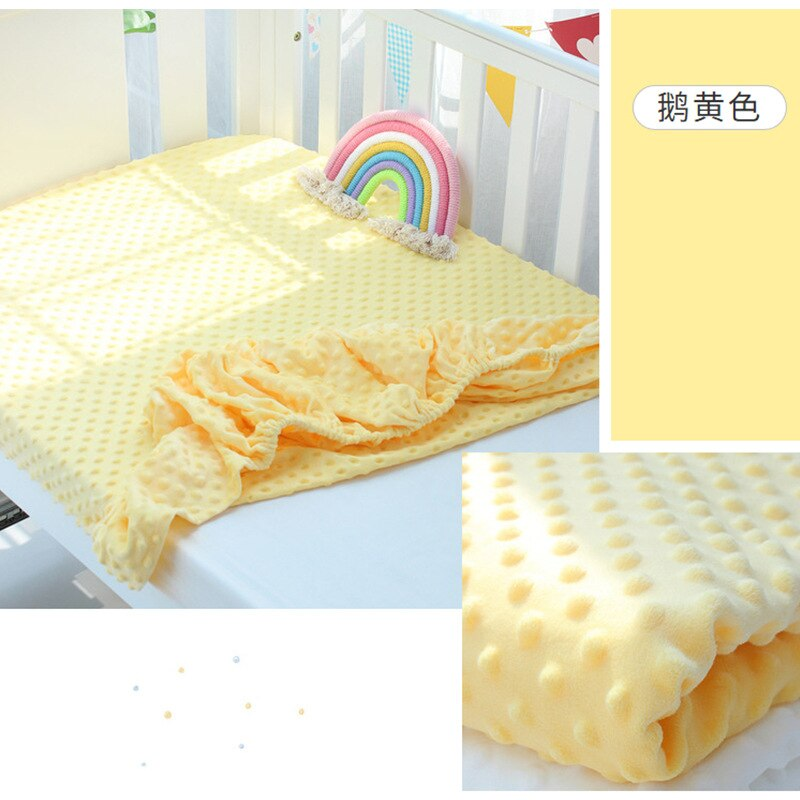 AliExpress - Newborn Baby Cot Fitted Sheet Soft Minky Message Cloth Breathable Comfort Baby Bed Matress Cover Solid Color Children Beddings
