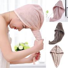 Thick Quick Magic Microfiber Hair Fast Drying Dryer Towel Bath Wrap Hat Quick Cap Turban Dry Turban