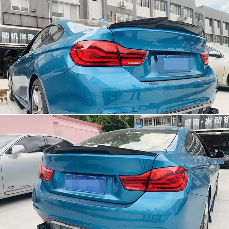 استخدام لسيارات BMW 4 Series F36 سبويلر 2014-2019 سنة 4 أبواب غران كوبيه ألياف الكربون الجناح الخلفي M4 نمط الملحقات طقم الجسم