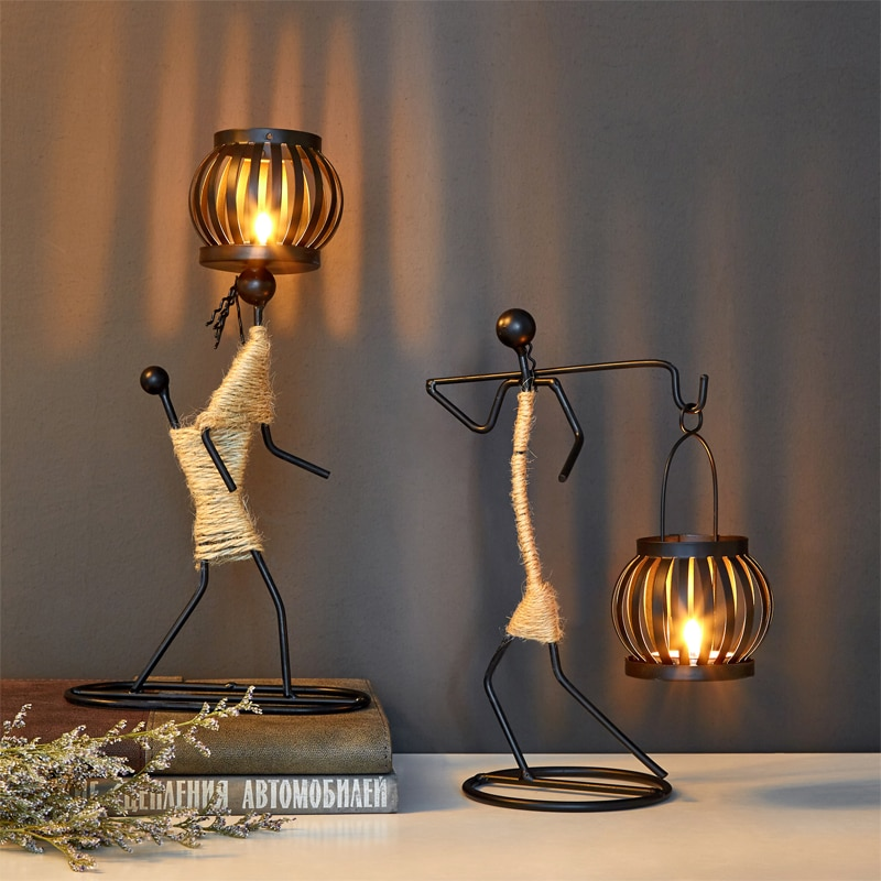 Candelabro De centro De Mesa Para Boda, candelabro De Metal, linterna De...