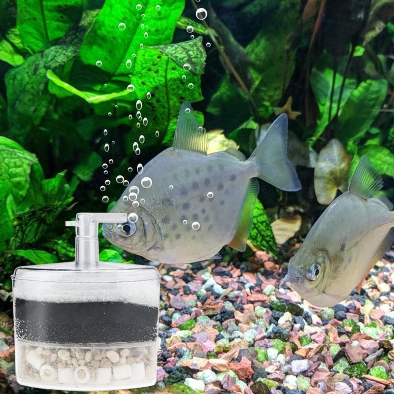 Filtro de acuario eficiente esquina interna Filtro de tanque de peces bomba de aire neumática accesorios de acuario