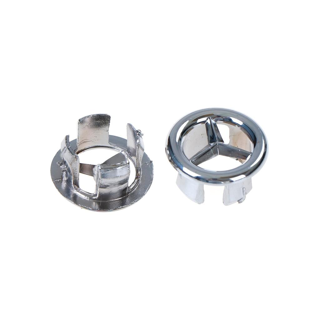 2/4PCS Good  Sink Hole Round Overflow Cover Ceramic Pots Copper Insert Chrome Basin