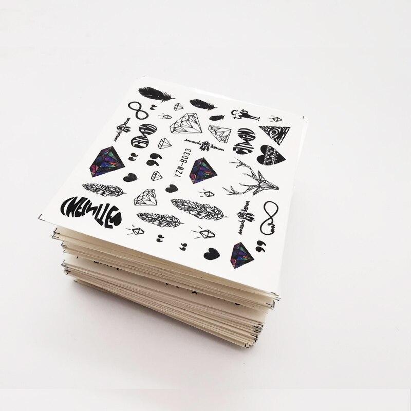 30/50 шт наклейки для ногтей набор на ногти для переноса воды слайдер для ногтей наклейки Животные Фламинго бабочка Фольга Дизайн 3D художественные украшения