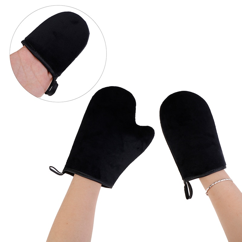 Reusable Body Self Tan Applicator Tanning Gloves Cream Lotion Mousse Body Cleaning Glove Self Tanner недорого