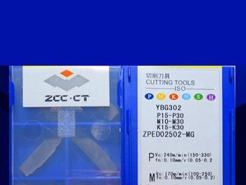 ZPED02502-MG YBG302 caribde inserts 10PCS